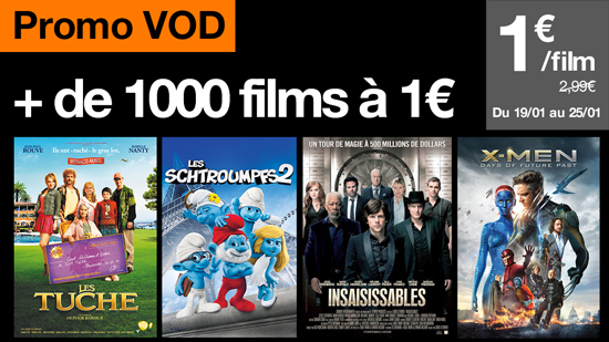 promo + de 1000 films à 1 euro